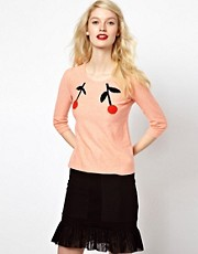 Sonia by Sonia Rykiel Cherry Intarsia Knitted Jumper