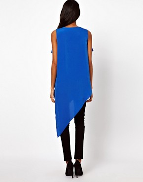 Image 2 ofASOS Top With Drape And Asymmetric Ruffles
