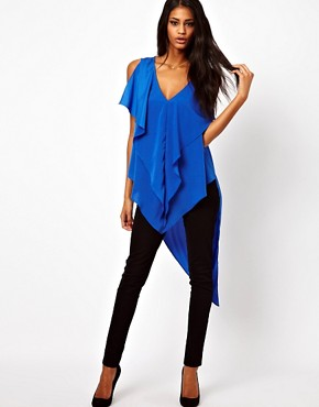 Image 4 ofASOS Top With Drape And Asymmetric Ruffles