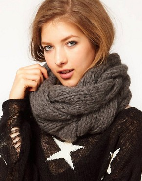 Image 1 ofSpratters &amp; Jayne Luxury Cable Cowl Scarf