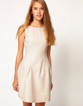 Image 1 ofA Wear Boucle Lantern Dress