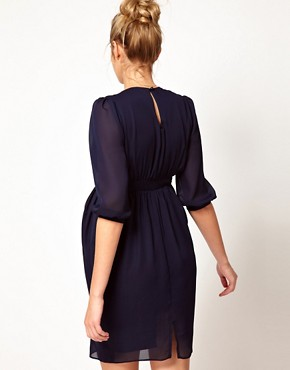 Image 2 ofASOS Maternity Tulip Dress With Ruching