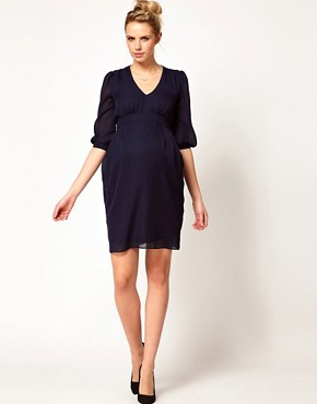 Image 4 ofASOS Maternity Tulip Dress With Ruching