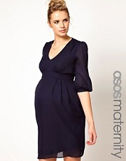 ASOS Maternity  Tulpenkleid mit Raffung