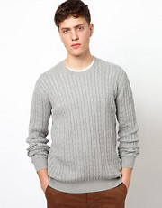 Ben Sherman Cable Jumper with Crew Neck