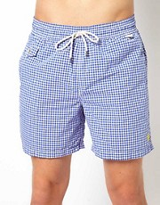 Polo Ralph Lauren Blue Gingham Swim Shorts