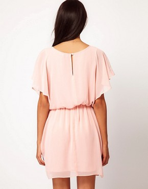 Image 2 ofASOS Tulip Dress With Flute Sleeves