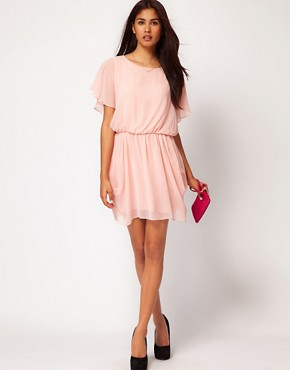 Image 4 ofASOS Tulip Dress With Flute Sleeves
