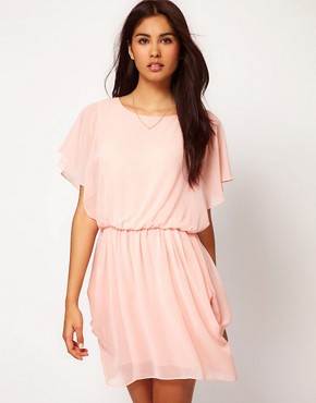 Image 1 ofASOS Tulip Dress With Flute Sleeves