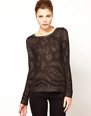 Kookai Metallic Animal Jumper