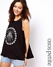 ASOS PETITE Swing Vest with Egyptian Eye