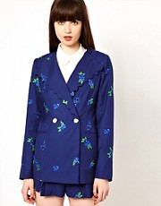 Nishe - Veste brode  motif fleurs