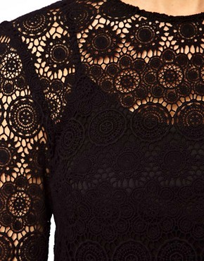 Image 3 ofASOS CURVE Shift Dress In Crochet Lace