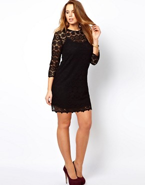 Image 4 ofASOS CURVE Shift Dress In Crochet Lace