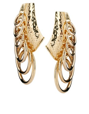 Image 1 ofASOS Looped Hooped Earrings