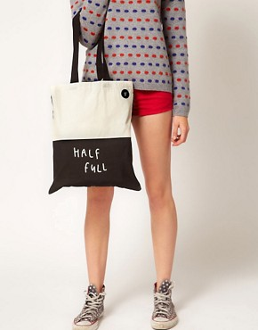 Image 3 ofLazy Oaf Glass Half Empty Half Full Shopper