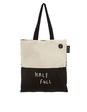 Image 1 ofLazy Oaf Glass Half Empty Half Full Shopper