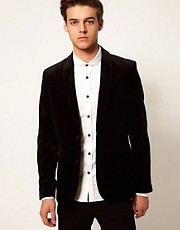 Selected - Blazer in velluto