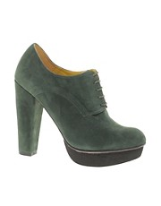 T &amp; F Slack Shoemakers Exclusive Platform Lace Up Heeled Shoes