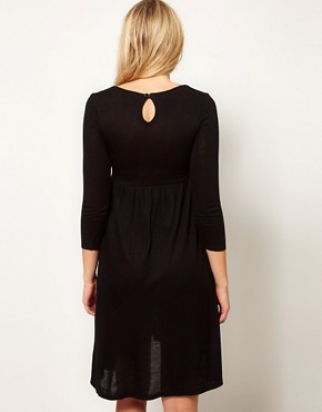 Image 2 ofASOS Maternity Knitted Midi Dress With Keyhole Back