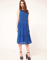 ASOS Midi Dress With Lace Panelling