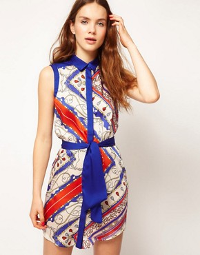 Image 1 ofKookai Scarf Print Dress