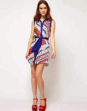 Image 4 ofKookai Scarf Print Dress