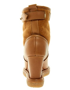 Image 3 ofF-Troupe Wedge Sheepskin Ankle Boots