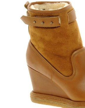Image 4 ofF-Troupe Wedge Sheepskin Ankle Boots