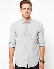 Diesel - Camicia button-down a righe sottili
