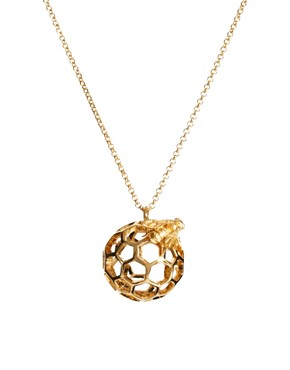 Image 1 ofBill Skinner Honey Comb And Bee Orb Pendant