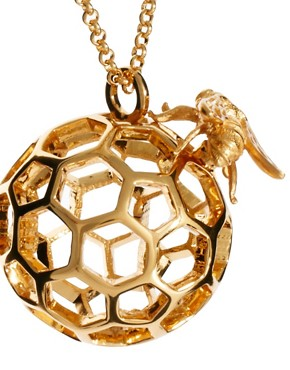 Image 4 ofBill Skinner Honey Comb And Bee Orb Pendant