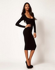 ASOS Midi Bodycon Dress with Long Sleeves