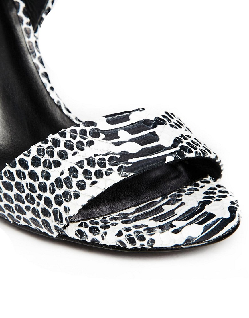 Image 4 of KG by Kurt Geiger Jamie Snake Print Single Sole Heeled Sandals