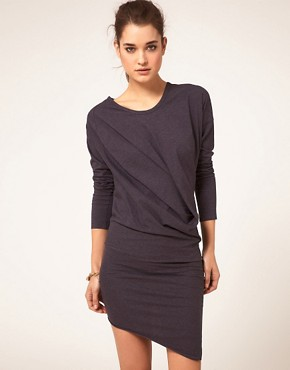 Image 1 ofJNBY Dress With Long Sleeve And Asymmetirc Hem