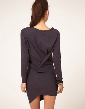 Image 2 ofJNBY Dress With Long Sleeve And Asymmetirc Hem