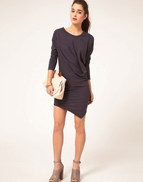 Image 4 ofJNBY Dress With Long Sleeve And Asymmetirc Hem
