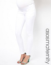 Vaqueros pitillo en blanco Elgin de ASOS Maternity