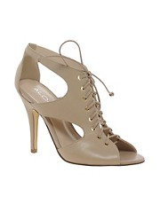 ALDO Magaskawee Nude Lace Up Heeled Sandals