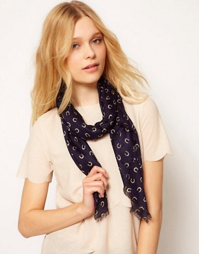 Image 1 ofFrench Connection Horseshoe Print Scarf