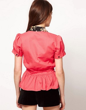 Image 2 ofLowie Spotty Peplum Blouse