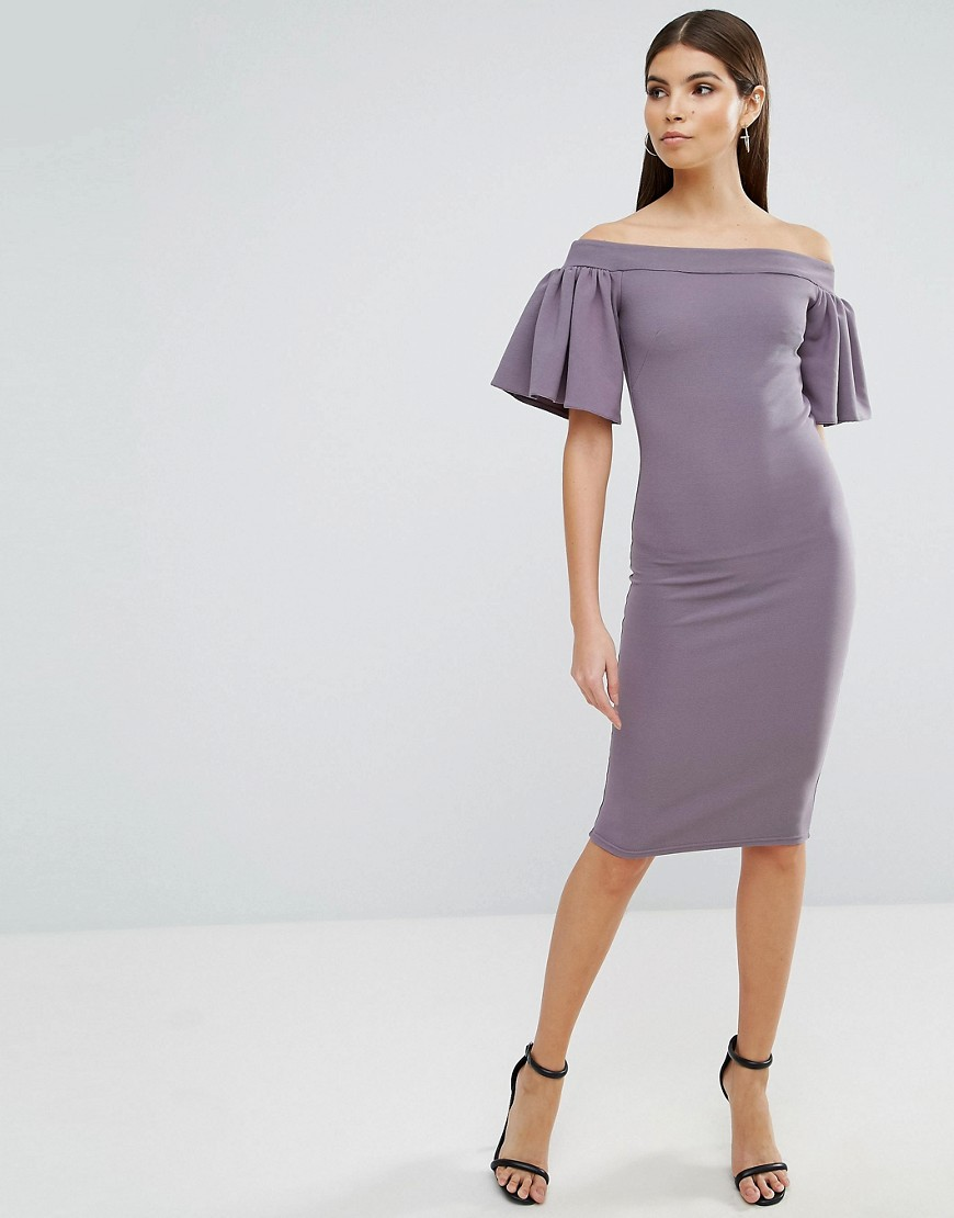 oh-my-love-midi-bardot-dress-with-frill-sleeve-grey