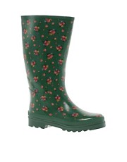 Botas de agua con estampado de flores campestres de Cath Kidston