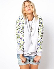 ASOS RECLAIMED VINTAGE Sweat with Floral Sleeves