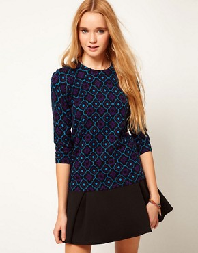 Image 1 ofASOS Dandizette Pattern Print Jumper