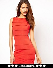 Paprika Bodycon Dress with Lurex Straps