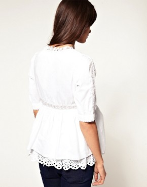 Image 2 ofASOS Maternity Exclusive Cotton Tunic with Lace