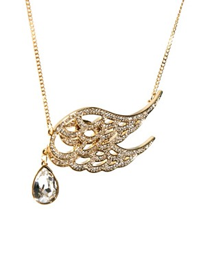 Image 4 ofTalullah Tu Crystal Wing Pendant Necklace
