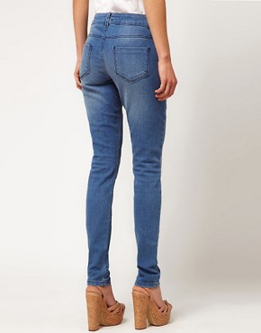 Image 2 ofASOS Skinny Jeans with Heart Knee Print #4