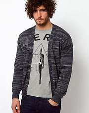 Paul Smith Jeans Cardigan in a Multi Stripe